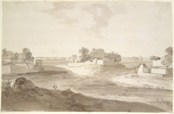 Village scene at Beyar near Muhammadabad (U.P.). 13 January 1789